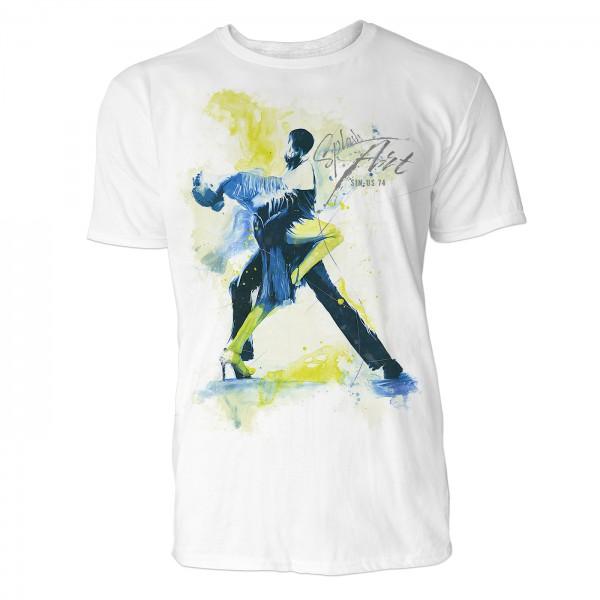 Tanzpaar Tango Sinus Art ® T-Shirt Crewneck Tee with Frontartwork