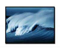 105x75cm Leinwandbild Petrol Große Welle im Sturm