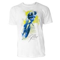 Radler frontal Sinus Art ® T-Shirt Crewneck Tee with Frontartwork