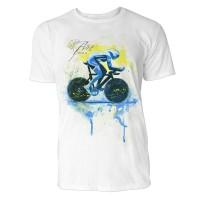 Radsport Sinus Art ® T-Shirt Crewneck Tee with Frontartwork