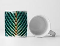 Tasse Geschenk Palmenblatt – Nahaufnahme
