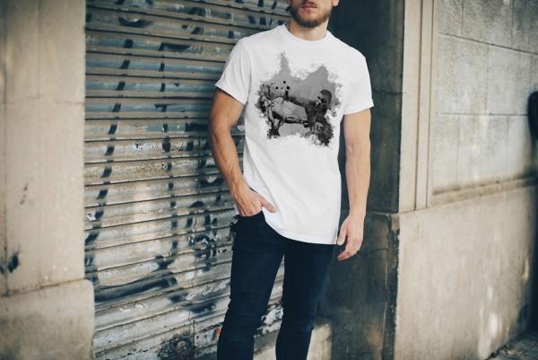 Mike Tyson-3 Herren und Damen T-Shirt BLACK-WHITE