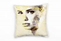 Adriana Lima V Deko Kissen Bezug 40x40cm für Couch Sofa Lounge Zierkissen