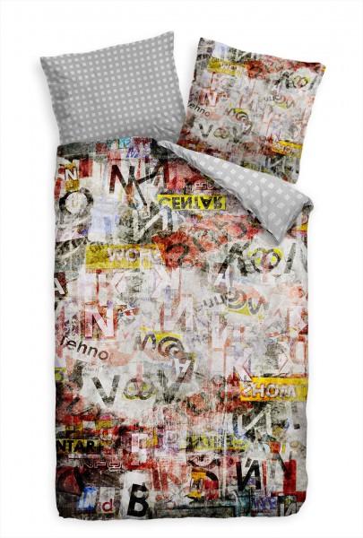 Graffiti Wall Kunst Bettwäsche Set 135x200 cm + 80x80cm Atmungsaktiv
