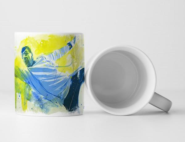Fussball Torwart Tasse als Geschenk, Design Sinus Art