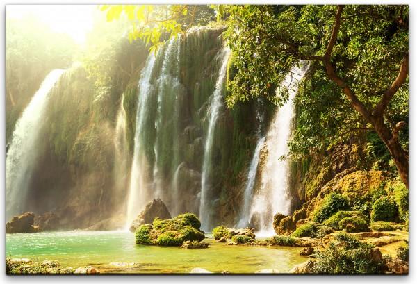 Vietnamesischer Wasserfall Wandbild in verschiedenen Größen