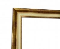 Klassischer Fotorahmen in Gold und Elfenbein