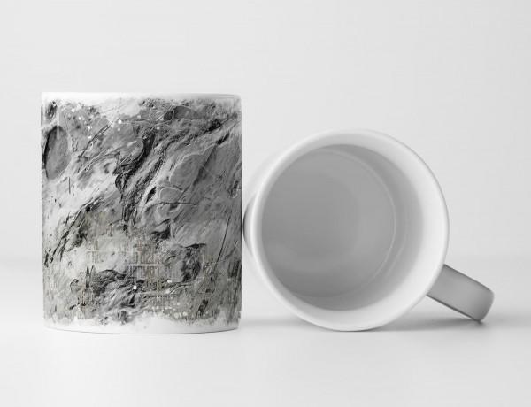 Tasse Geschenk Stein ähnliche Abstraktion: grau + Aufschrift