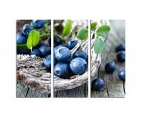 130x90cm Blaubeeren Holz Nahaufnahme Obst