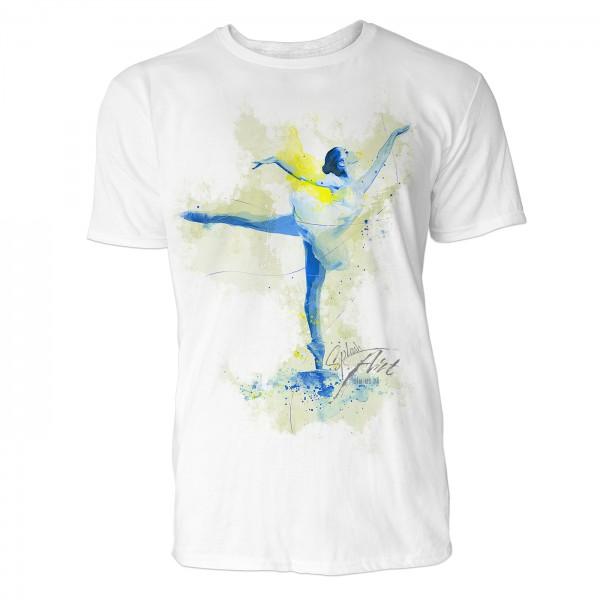 Ballerina Attitude  Sinus Art ® T-Shirt Crewneck Tee with Frontartwork