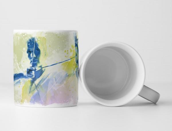 Bogenschiessen I Tasse als Geschenk, Design Sinus Art