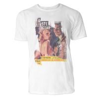 The Monster and the Murdered Bride Herren T-Shirts in Karibik blau Cooles Fun Shirt mit tollen Aufdr