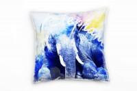 Sitting Elephant Deko Kissen Bezug 40x40cm für Couch Sofa Lounge Zierkissen