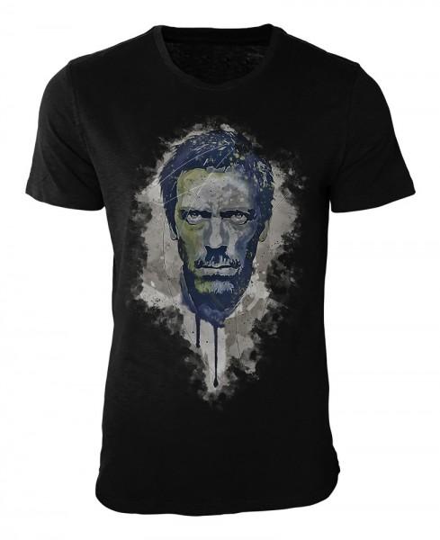 Dr House Damen und Herren T-Shirt schwarz / black