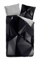 Abstrakt Polygon Schwarz  Bettwäsche Set 135x200 cm + 80x80cm  Atmungsaktiv