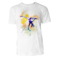 Capoeira einarmiger Handstand  Sinus Art ® T-Shirt Crewneck Tee with Frontartwork