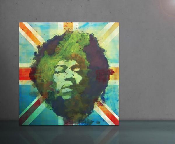 Jimi Hendrix ENGLAND 100x100cm