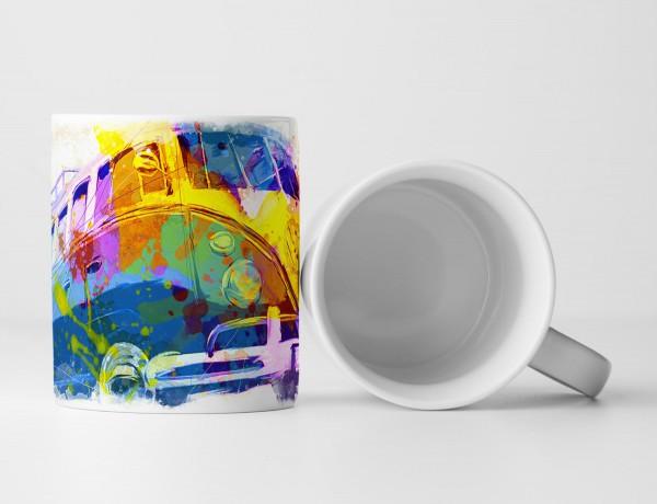 VW Bus T1 Tasse als Geschenk, Design Sinus Art