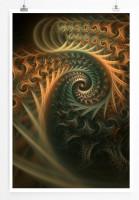 60x90cm Digitale Grafik Poster Organische Spiralen