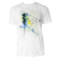 Golf Sinus Art ® T-Shirt Crewneck Tee with Frontartwork