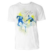 Eishockey Backchecking Sinus Art ® T-Shirt Crewneck Tee with Frontartwork
