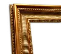 Exklusiver Echtholzrahmen Barock gold glänzend elegant