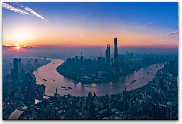 Panorama von Schanghai Wandbild in verschiedenen Größen