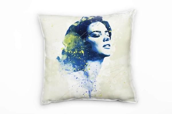 Adriana Lima III Deko Kissen Bezug 40x40cm für Couch Sofa Lounge Zierkissen