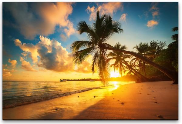 Palmen am Strand Wandbild in verschiedenen Größen