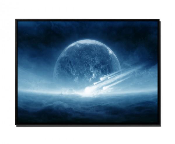 105x75cm Leinwandbild Petrol Apokalypse explodierender Planet
