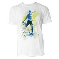 Fußball Freistoß Sinus Art ® T-Shirt Crewneck Tee with Frontartwork