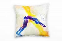 Schwimmen IV Deko Kissen Bezug 40x40cm für Couch Sofa Lounge Zierkissen