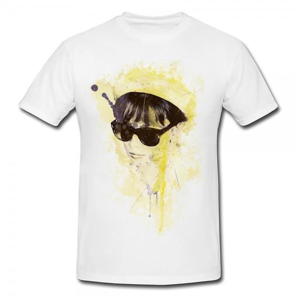 Audrey Hepburn I Premium Herren und Damen T-Shirt Motiv aus Paul Sinus Aquarell