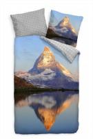 Matterhorn See Wahrzeichen Spiegelung Bettwäsche Set 135x200 cm + 80x80cm  Atmungsaktiv