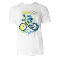Radsport seitlich Sinus Art ® T-Shirt Crewneck Tee with Frontartwork