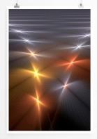 60x90cm Digitale Grafik Poster Lichtsterne