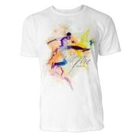 Fußballer Sinus Art ® T-Shirt Crewneck Tee with Frontartwork