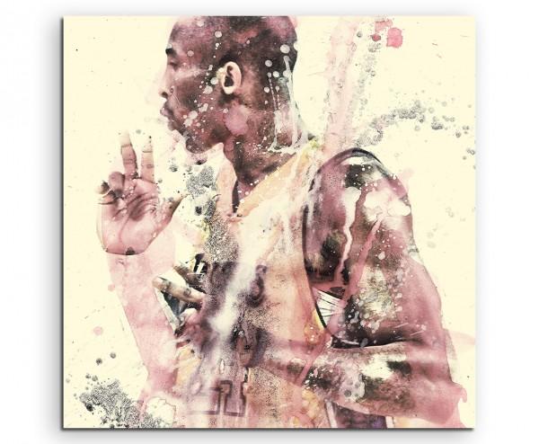 Kobe Bryant LA 60x60cm  Aquarell Art Leinwandbild
