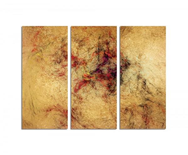 130x90cm Wandbild Abstrakt154 -3x90x40cm