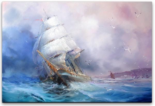 Gemälde mit Segelschiff Wandbild in verschiedenen Größen