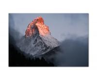120x80cm Matterhorn Berg Nebel Morgengrauen