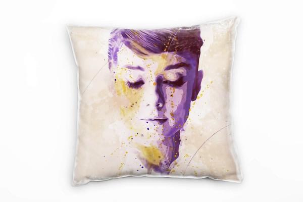 Audrey Hepburn X Deko Kissen Bezug 40x40cm für Couch Sofa Lounge Zierkissen