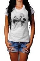 Armdruecken Herren und Damen T-Shirt BLACK-WHITE
