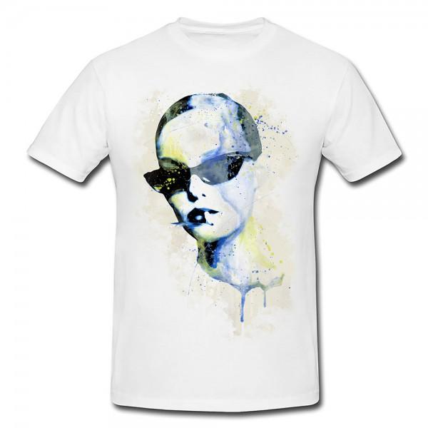 Vanessa Paradis IV Premium Herren und Damen T-Shirt Motiv aus Paul Sinus Aquarell