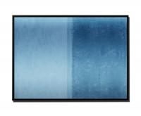 105x75cm Leinwandbild Petrol Abstrakt simpel I