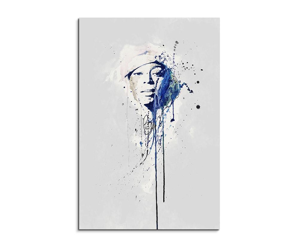 Beyoncé Knowles 90x60cm Aquarell Art Wandbild auf Leinwand fertig ...