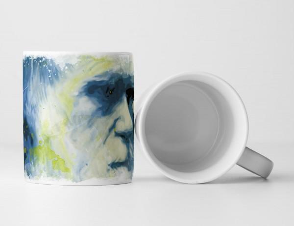Charles Darwin Tasse als Geschenk, Design Sinus Art