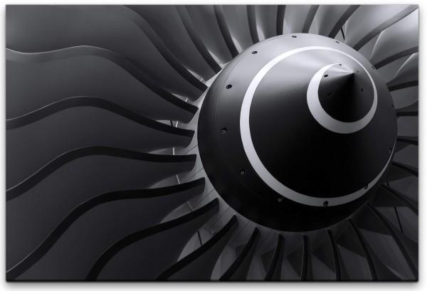 Flugzeugturbine Wandbild in verschiedenen Größen