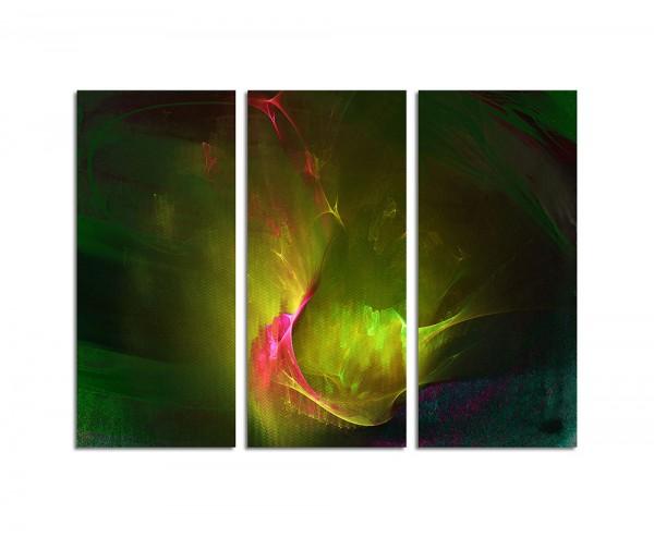 130x90cm Wandbild Abstrakt181 -3x90x40cm