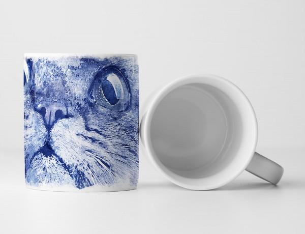 Cat III Tasse als Geschenk, Design Sinus Art